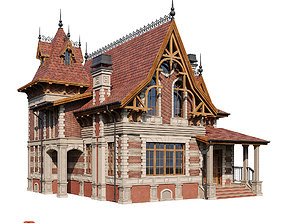 Classic modern house 3D model
