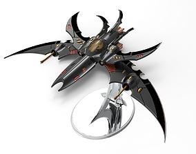 Jetfighter Dark Eldar space Drow 40k like 3D print model