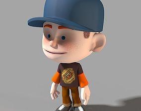 3D model Cartoon Character casual boy