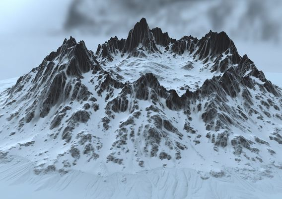 snow crater