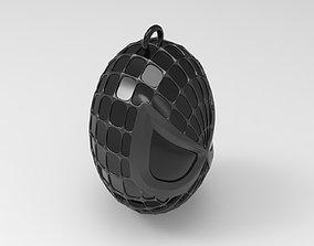 3D print model Spiderman Head Keychain Black