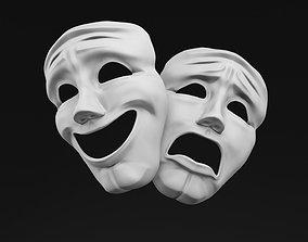 3D model Sock and Buskin Theatre Masks
