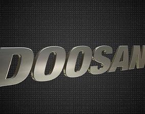 3D model doosan logo