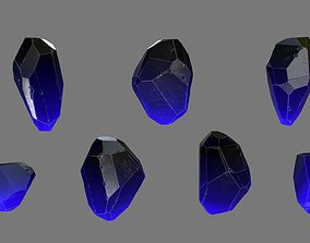 mosy Crystal 3D asset game-ready