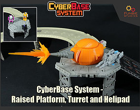 3D print model CyberBase System Platform Turret and 2