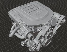 GM LS9 Engine 3D asset