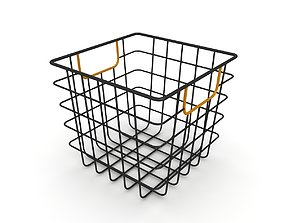 Wire Storage Bin with Handles 3D model
