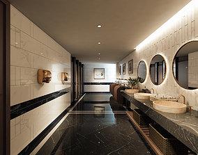 3D The Hotel Restrooms Design