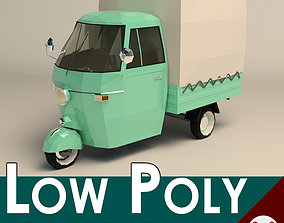 3D model Low Poly Three Wheeled Truck 02