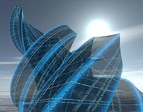 3D model Transparent Building