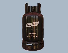 3D asset Gas Cylinder Black