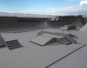 3D asset Lowpoly Modular Skatepark