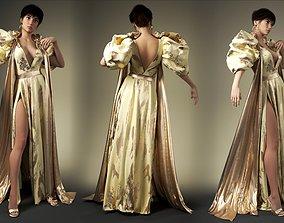 Mdoren evening dress Marvelous Designer an 3DS max 3D