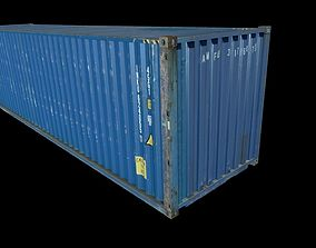 3D model Blue Shipping Container