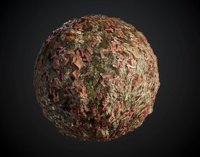 Ground Terrain Metal Shotgun Shells Seamless PBR 3D model