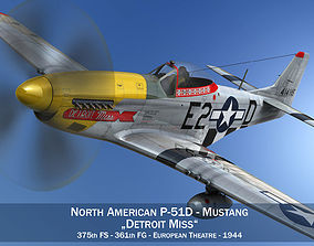 3D North American P-51D - Detroit Miss