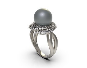 Woman Solitaire Ring 83 3D print model