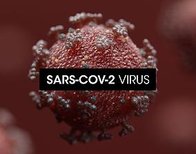 Covid-19 Coronavirus SARS-CoV-2 3D asset