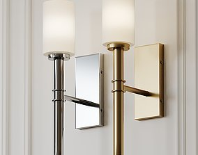 Darrell 1-Light Wallchiere Wall Sconce by Langley 3D