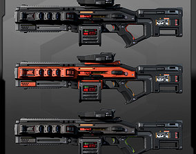 3D model SF Heavy MachineGun AK6