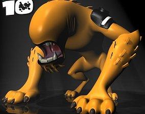 3D model BEN 10 WildMutt RIGGED