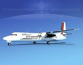 Fokker F-60 CityJet 3D