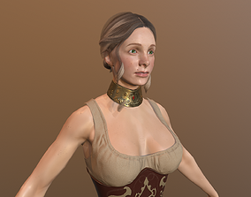 animated Girl Low Poly Model