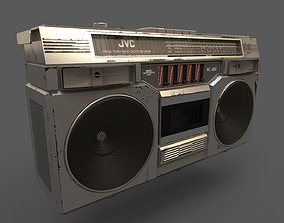 3D asset VR / AR ready Retro Stereo - JVC RC-680