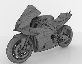 rigged Yamaha YZF-M1 Racing MOTOGP 2020 3D Model