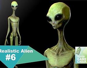 Realistic Alien 6 3D asset