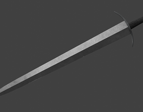 3D asset Short One-Handed Sword Broadsword