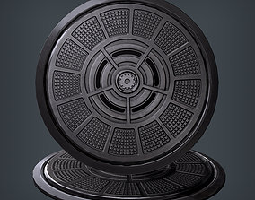 3D model realtime PBR Manhole circular