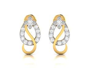 Women earrings 3dm render detail jewelry engagement