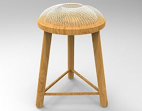 3D Steel Rod Dome Stool