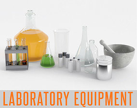 Laboratory Equipment Chemical Science Medical 3D asset