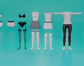 3D model New Clothes Collection for Female