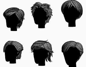 3D asset Stylized Hair Factory V2