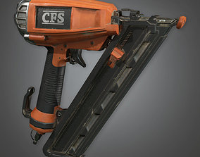 3D asset Nail Gun TLS - PBR Game Ready