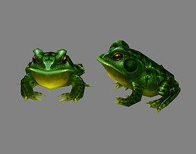 3D asset Cartoon frog