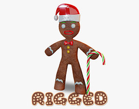 3D asset realtime Gingerbread Man Rigged