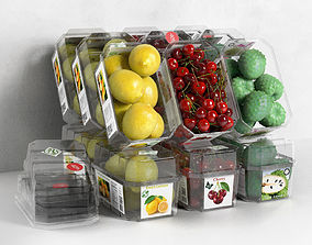3D fruits Packed Fruits