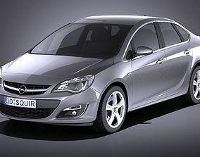 Opel Astra Sedan 2015 VRAY 3D
