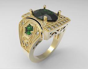 Model 122 Ring with oval stone