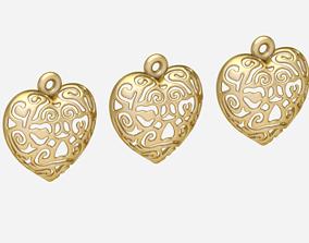 heart jewelry 3D printable model