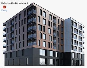 3D Modern residential building 7