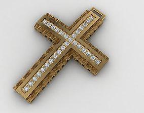 greek pendant cross 10 curch jesus 3D printable model 3