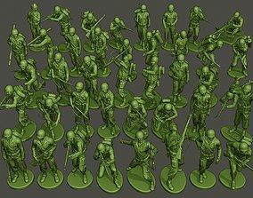 3D printable model American soldiers ww2 Bundle Pack