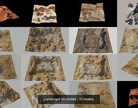 Landscape 3D models saturn