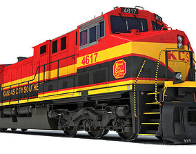 Kansas City Southern Locomotive 3D