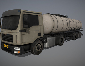 Big Truck With Trailer 3D model